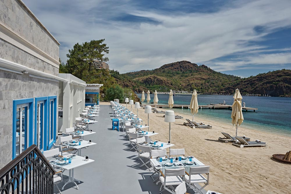 Beach and Lounge at D-Hotel Maris, Turkey