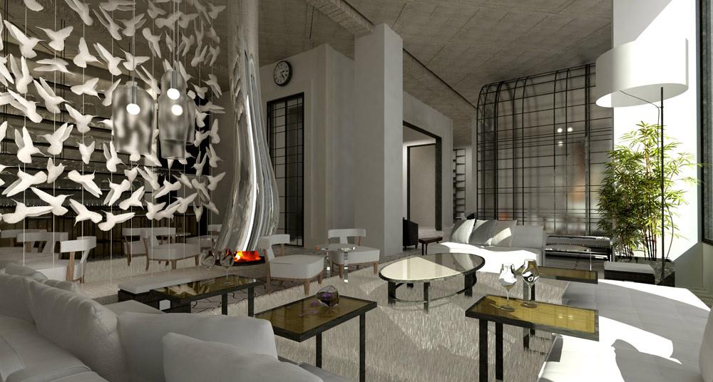 Lobby Winebar at The Marmara Park Avenue, New York