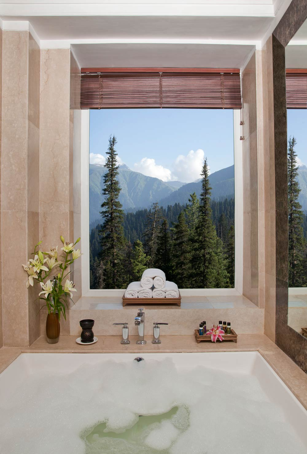 Bath at Khyber Himalayan Resort and Spa