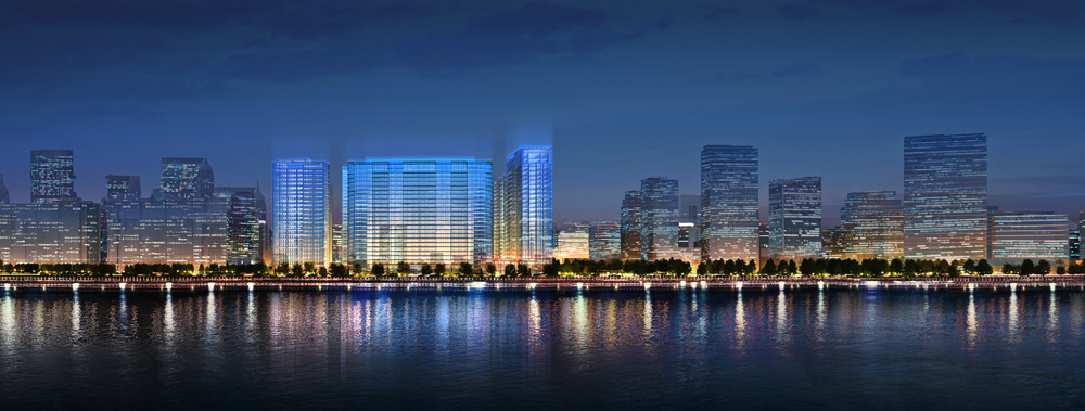 Ideally positioned alongside the Qiantang River, The Azure Qiantang in Hangzhou overlooks the world's largest tidal bore