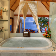 Bath of West Pool Suite at Royal Davui ResortFiji