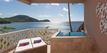 Patio at Curtain Bluff, Antigua, West Indies