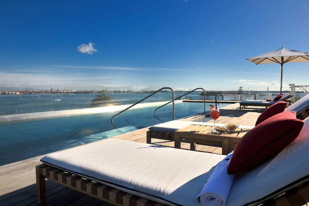 Rooftop pool at the JW Marriott Venice Resort and Spa