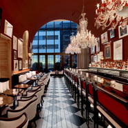 Bar and Dining at Baccarat Hotel New York