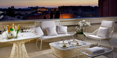 Terrace at Palazzo Montemartini, Rome