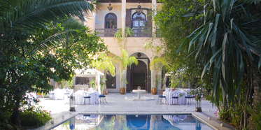 Outdoor Pool at Palais Sheherazade and Spa in Fez, Morocco