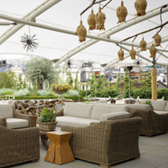 Rooftop Terrace at Ham Yard Hotel LondonEngland