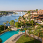 Aerial View of Sofitel Legend Old Cataract Aswan in AswanEgypt