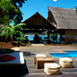Have a relaxing day by the freshwater pool at L'Heure Bleue Hotel, Madagascar