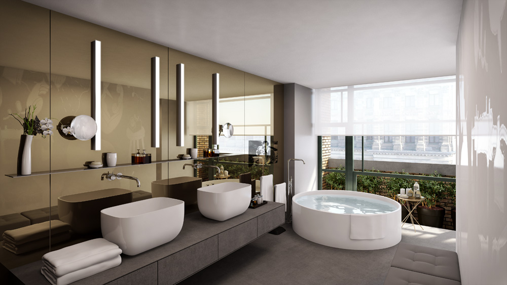 Bathroom at the W Amsterdam