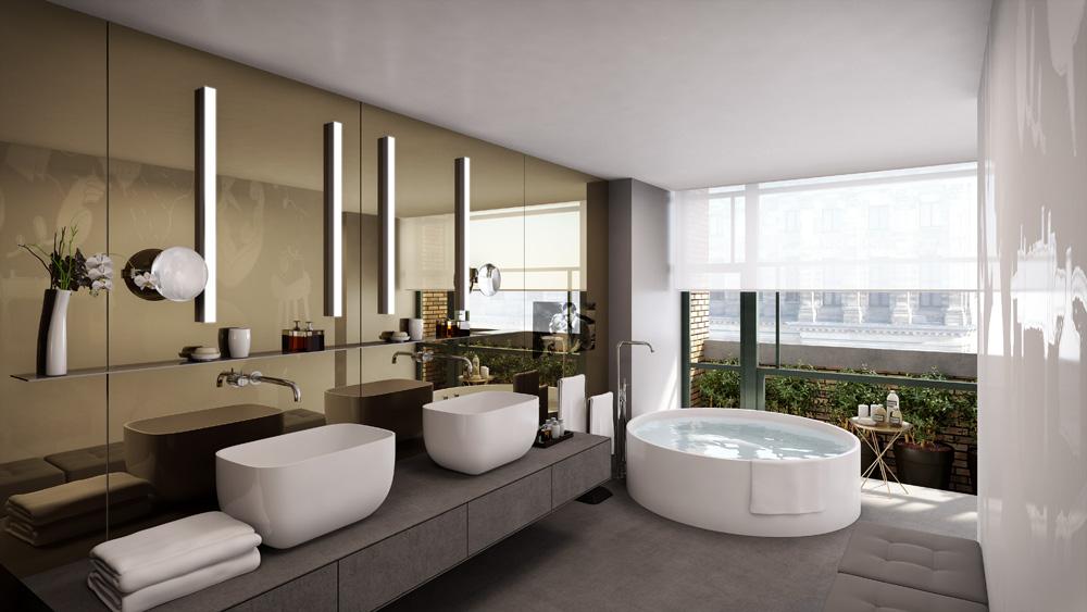 Bathroom at the W Amsterdam