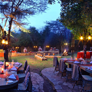 Dining at Sarova Mara Game CampKenya