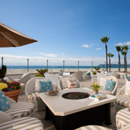 The Windsor Cottage Patio at Beach Village at The Del, San Diego