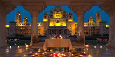 Baradari Dining at Umaid Bhawan Palace, Jodphur, India