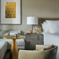 Guestroom with small sitting area at Four Seasons New York DowntownNYC