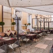 Terrace Dining At Hotel Bristol Palacegenovaitaly