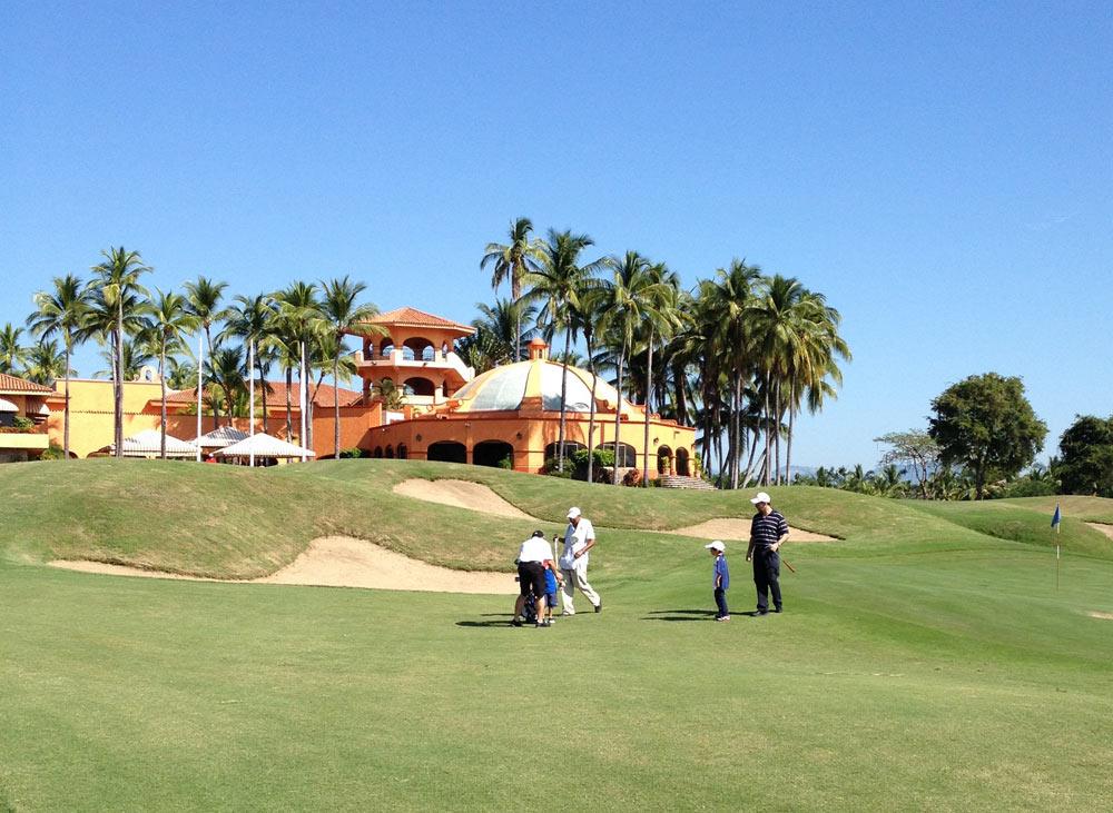Golfing at Isla Navidad Country Club