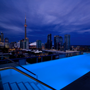 Pool Overlooking City at Thompson TorontoCanada