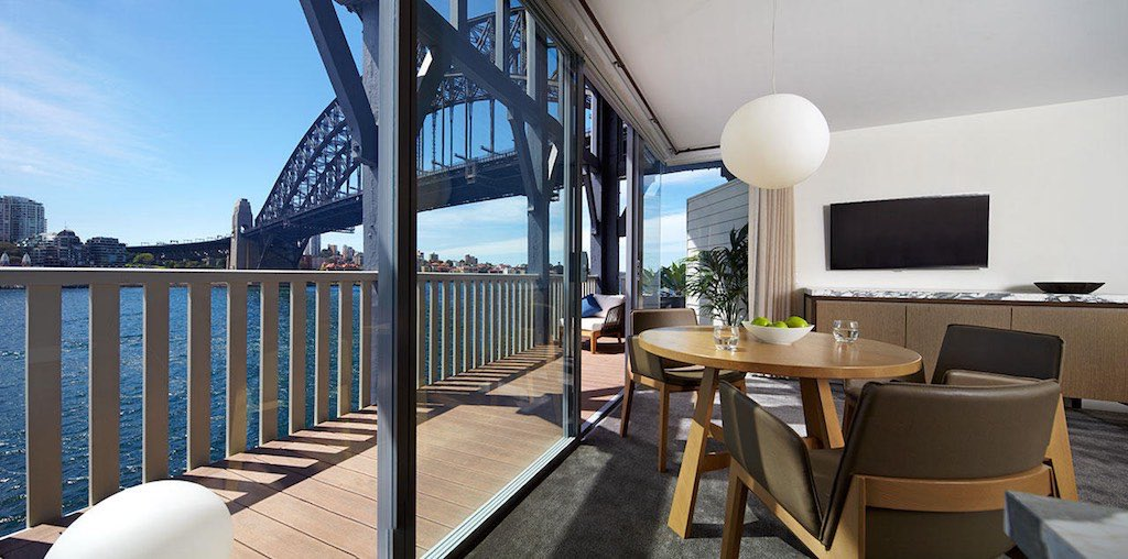 Harbour View Balcony Suite at the Pier One Sydney Harbour Hotel