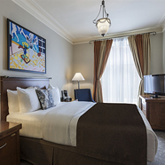 Deluxe Double Guest Room at Chateau Versailles Hotel, Montreal, Canada