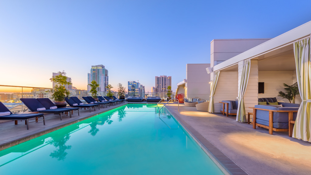 Rooftop Pool at Andaz San Diego, CA