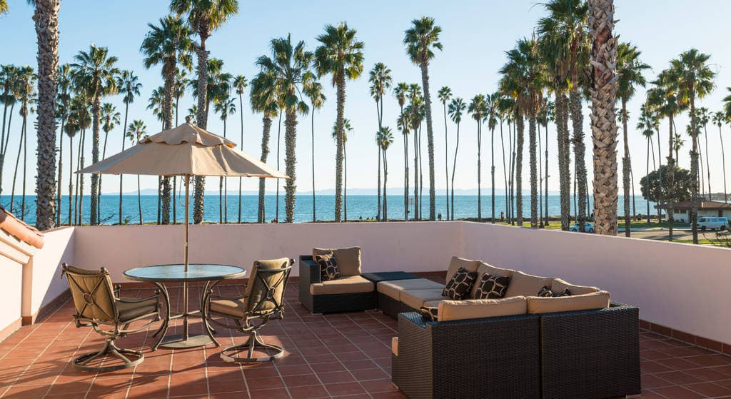 Suite Patio at Fess Parkers Doubletree Resort, Santa Barbara, CA