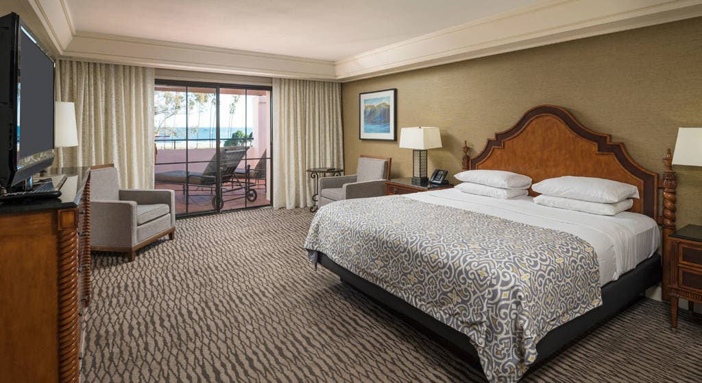 Ocean View King Guest Room at Fess Parkers Doubletree Resort, Santa Barbara, CA