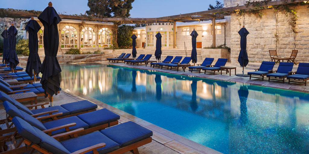 Outdoor Pool at American Colony Hotel, Jerusalem, Israel