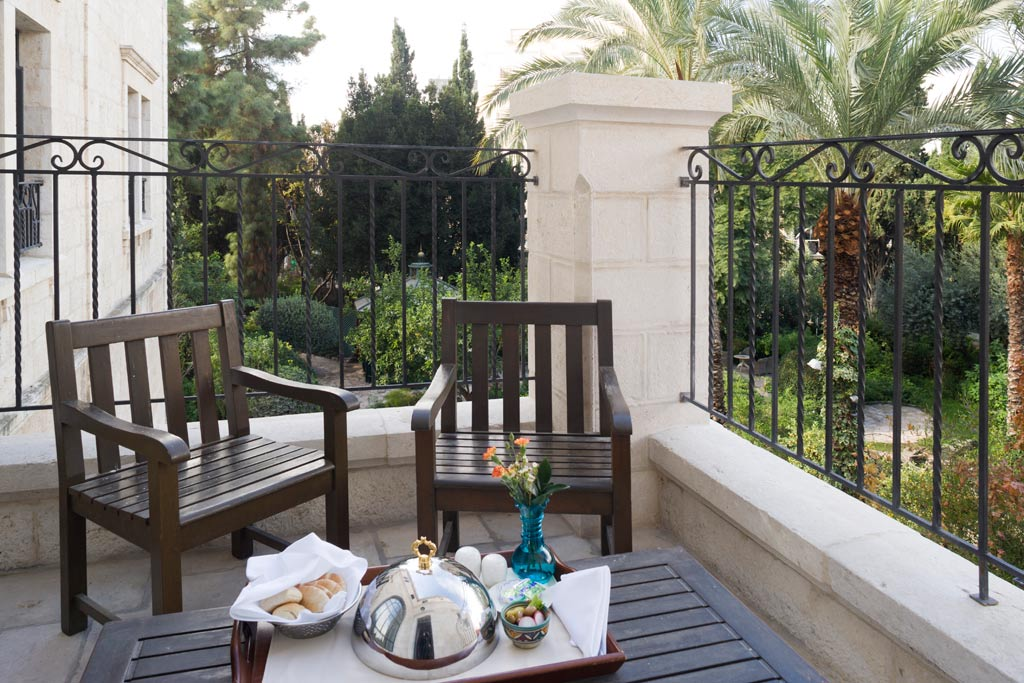 Deluxe Guest Room Balcony at American Colony Hotel, Jerusalem, Israel