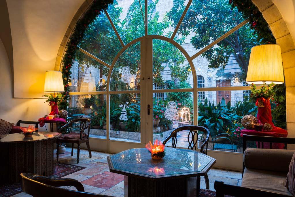 Lobby of American Colony Hotel, Jerusalem, Israel