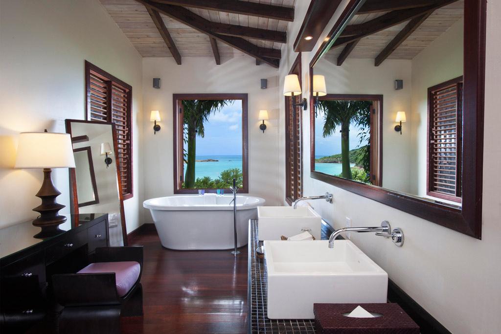 Pool Suite Bath at Hermitage Bay, Antigua & Barbuda