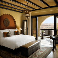 Deluxe Balcony King Guest Room at Qasr Al Sarab Desert Resort by Anantara, United Arab Emirates