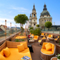Terrace Lounge at Aria Hotel Budapest, Hungary