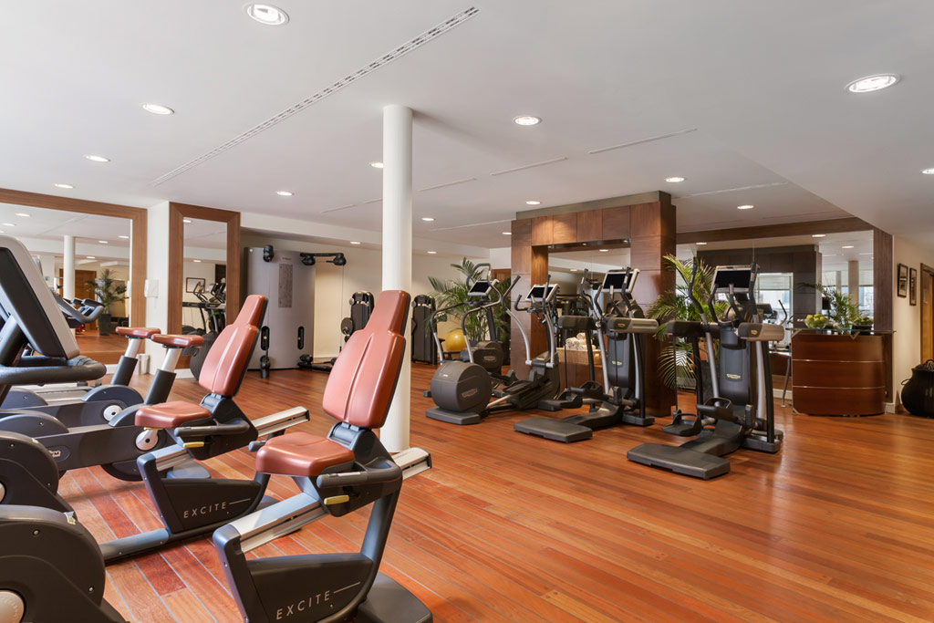 Gym at Grand Hotel Kempinski Geneva, Switzerland