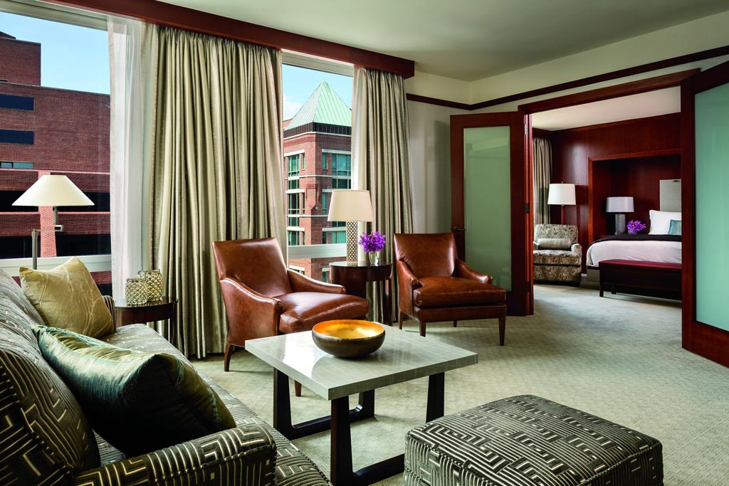 Suite Guest Area at Ritz Carlton Washington DC