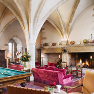 Lobby and Lounge at Chateau de Gilly, France