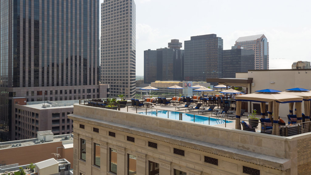 Rooftop Pool and Lounge at NOPSI Hotel, New Orleans, LA