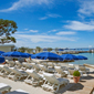 Beach Lounge at Hotel Juana, Antibes, France