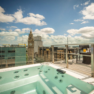 Rooftop Hot Tub at The Merchant Hotel, Belfast, Northern Ireland