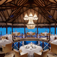 The Deep End Dining Room at Taj Exotica Resort and Spa, Male, Maldives