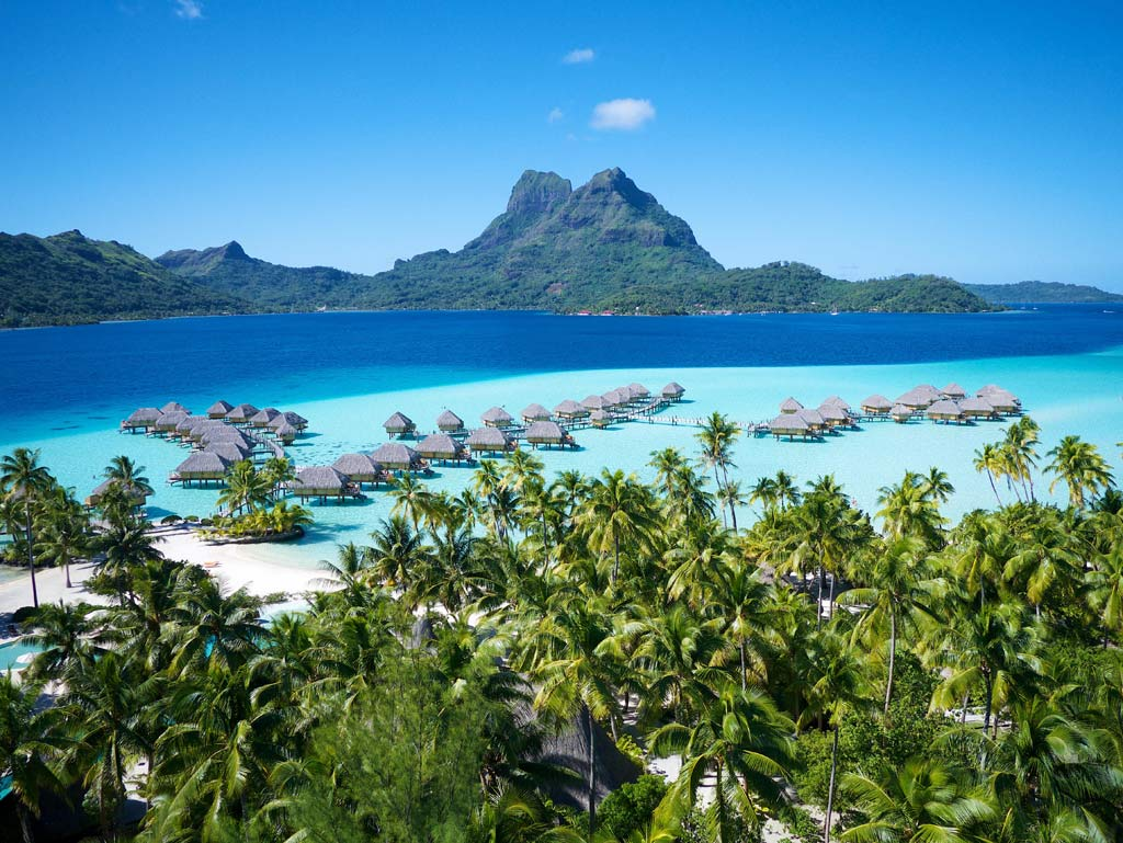 Aerial View of Bora Bora Pearl Beach Resort, Bora Bora, French Polynesia