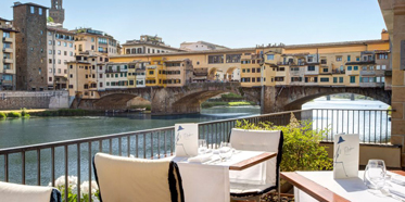 Terrace Dine at Hotel Lungarno, Florence, Italy