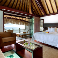 Overwater Bungalow Guest Room at Hilton Moorea Lagoon Resort & Spa, Papetoai, French Polynesia