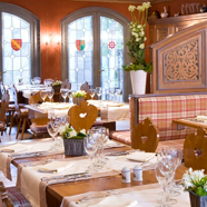 Dine at Chateau de l'Ile, Strasbourg-Ostwald, France