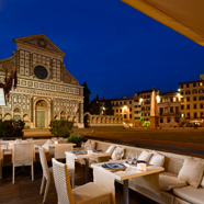 Al Fresco Restaurant at Grand Hotel Minerva Florence, Italy