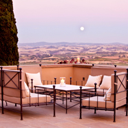 Terrace Dine at Rosewood Castiglion del Bosco, Montalcino, Italy