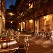 Terrace Dine at Hotel Cour du Corbeau, Strasbourg, France