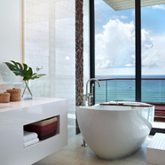 Presidential Suite Bath at Kimpton Seafire Resort & Spa, Cayman Islands
