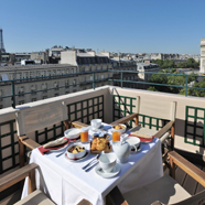 Terrace Dine at Hotel Napoleon Paris, France