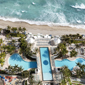 Balcony Views of Pool and Beach at The Diplomat Resort and Spa. Hollywood Beach, FL